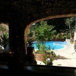  View of the pool from our breakfast table