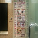  Walls &quot;papered&quot; with the Dandy comic pages