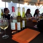 My initial vist the Bachelorette Wine tasting was held in the tent!