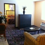 The Deluxe Bedrooms have a large 50 inch screen TV.