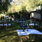  The garden made the perfect venue for our post-wedding pies and pastries wrap party!