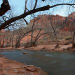  View of the Watchman from the river&#39;s edge behind Room 601