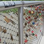  Sweetheart locks on bridge from new to old town