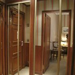  Spacious dressing area and wardrobe near the entrance of the room