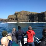 Approaching the Isle of Staffa