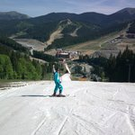 Well, that's me, on top of piste #2A, and, yes, there was truly snow there!