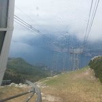 Cloudy view from Monte Baldo on the Funivia