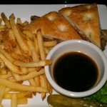  Great Sandwich and Crispy Fries with Au Jus