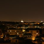 View from room 706. The white dome is St Peter's Basilica, Vatican City