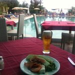 A light lunch at the pool