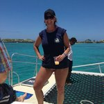 On the Salty Dog catamaran after snorkeling