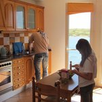 the kitchen and its fantastic views