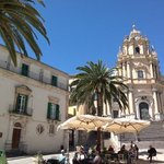 entrance and building of Palazzo Castro al Duomo...what a perfect location to discover Ragusa Ib