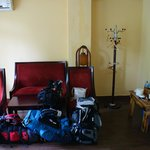 Family room (with four rucksacks cluttering up the place!)