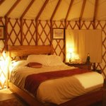  The inside of the Yurt