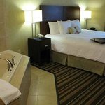  Hampton Inn and Suites Merced one king suite with whirlpool