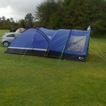 pitched up for a great camping holiday
