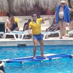  Senior Mauricio and water aerobics.