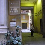 Hotel Galatea - entry from the courtyard