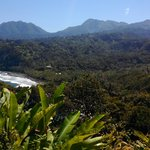  While hiking north of Rosalie Bay, (looking back at RB in the valley along the ocean)
