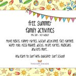  Free family activities in the Summer Holidays