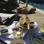Afternoon tea at the pool area
