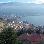  Vue du fort d&#39;Ohrid