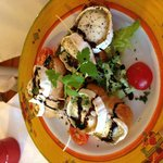 Goats cheese bruschetta