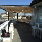The rooftop restaurant