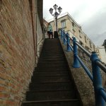  These are the stairs from the main road down to the area where the hotel entrance is