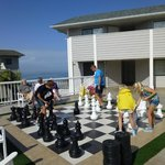 Family game of chess - with a view!