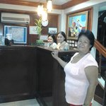 Receptionist with mother-in-law