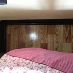 Pontins. Floor under our bed wet in morning from water leaking in