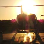 refuelling in the sunset