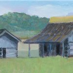  my painting from Hidden Valley, two barns