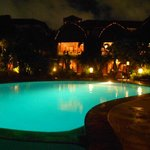  Night time pool side