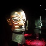 Sanxingdui Museum - Golden Mask on Bronze head