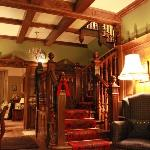 Wood panelled hall