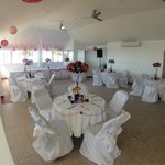  Multimedia events room wedding set-up