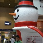  A snowman in the lobby