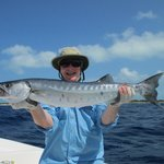 A nice barracuda caught in Los Roques