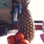Bought from truck - Pineapple and 1 lb of tomatoes for $2.50