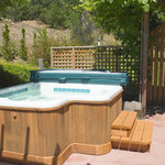  Hot tub in private setting with views