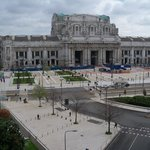 This is the view of Milan Central Station, from my balcony