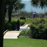  New Switchback Boardwalk from garden to to Beach