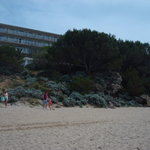 View of hotel froom the beach