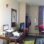 My office while I was staying in the ADA room.