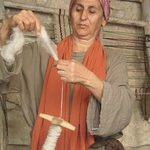  Spinning wool