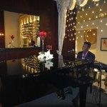 Talented piano player at the lounge/bar.