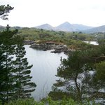  View of mountains and Glengarriff Harbour